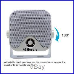 Waterproof Marine Radio Bluetooth Stereo+4 Boat UTV ATV Outdoor Box Speakers