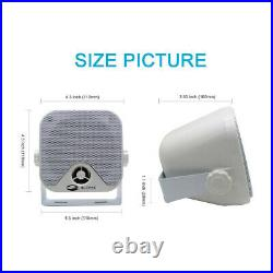 Waterproof Outdoor Stereo Speakers System, Marine Bluetooth Receiver FM AM Radio