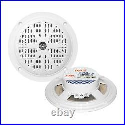 White Bluetooth USB Boat Radio, Antenna 5.25 Boat Speakers, 3.5 Box Speakers