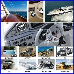 Wire Remote Control Marine Gauge Radio Unit Bluetooth Stereo Boat Yacht Car ATV
