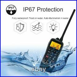 With GPS VHF Marine Boat Radio Recent RS-38M IP67 Float Walkie Talkie + USB